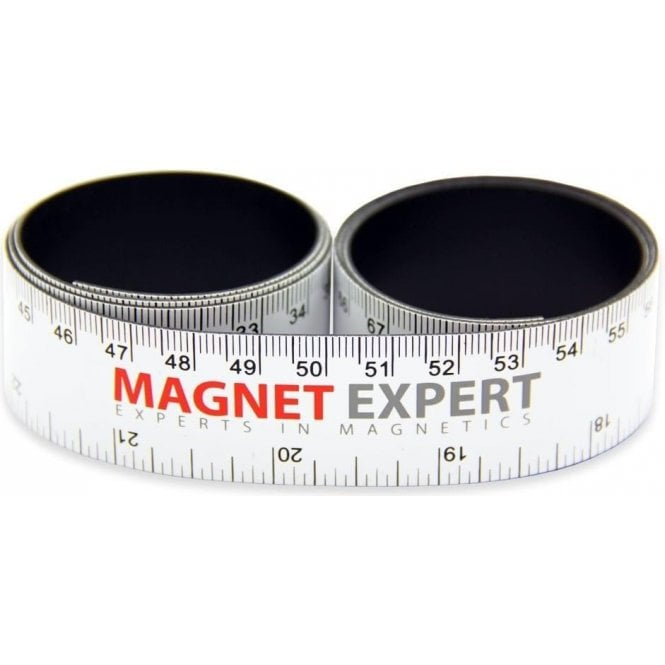 1,000mm x 25.4mm x 0.85mm thick Flexible Magnetic Ruler - Metric (mm) & Imperial (in)