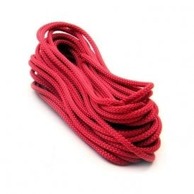 10 metres of 4mm dia Polyester Rope - Red (420kg breaking strength) (40 x 10 metre lengths)