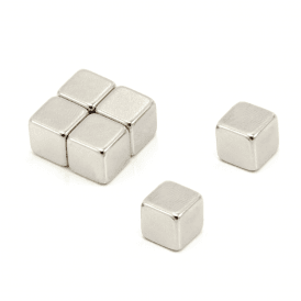 10 x 10 x 10mm thick N42 Neodymium Magnet - 4.7kg Pull (Pack of 240)