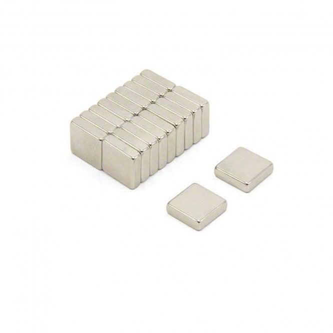 10 x 10 x 3mm thick N42 Neodymium Magnets - 2.2kg Pull