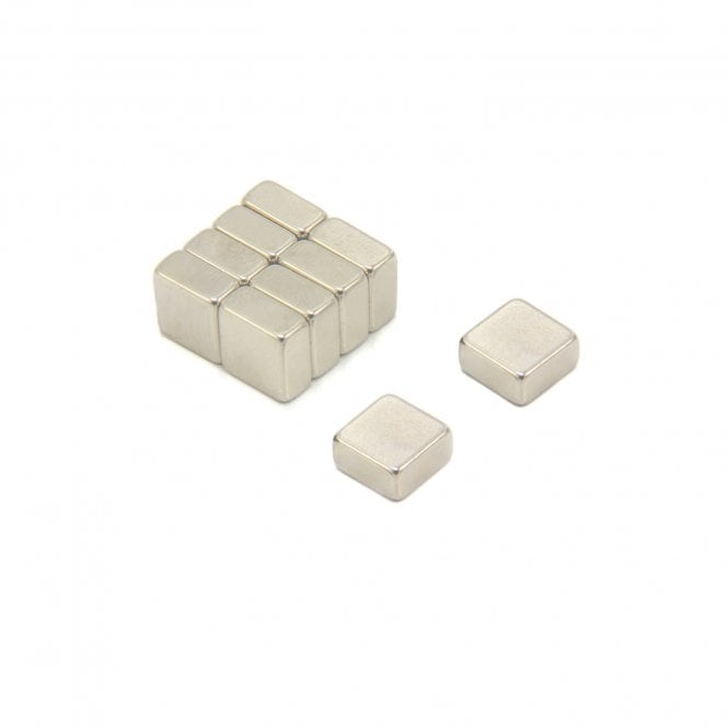10 x 10 x 5mm thick N42 Neodymium Magnet - 3.5kg Pull