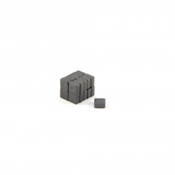 10 x 10 x 5mm thick Y10 Ferrite Magnet - 0.18kg Pull