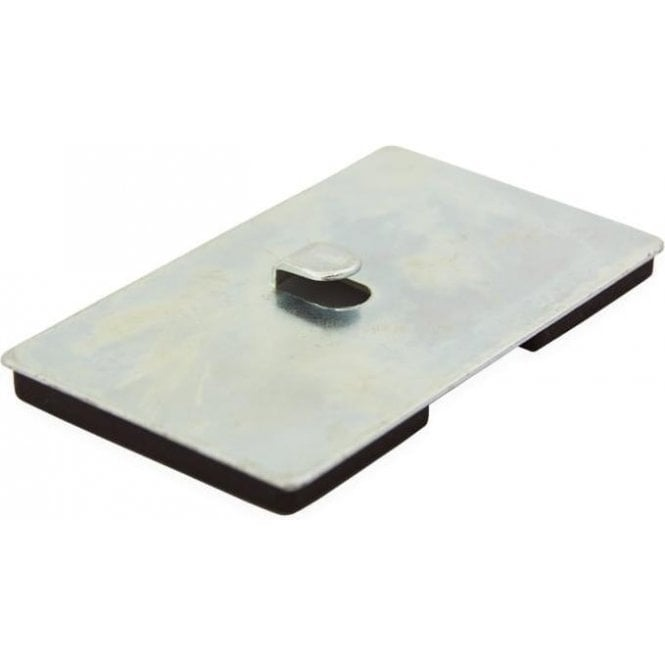 100 x 60 x 7mm thick Neodymium Magnetic Pad with Hook - 17.5kg Pull