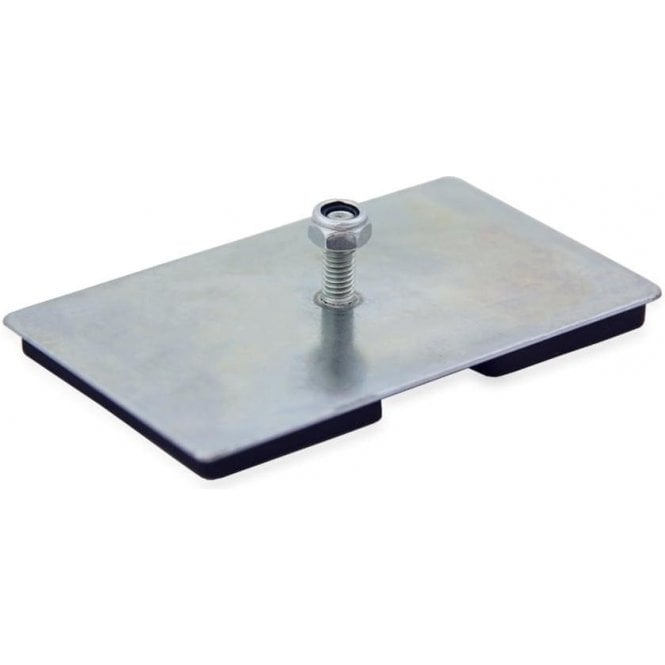 100 x 60 x 7mm thick Neodymium Magnetic Pad with M6 Threaded Stud - 17.5kg Pull