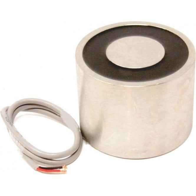 101.6mm dia x 76.2mm thick Electromagnet with 10mm Mounting Hole - 430kg Pull (12V DC / 33W)
