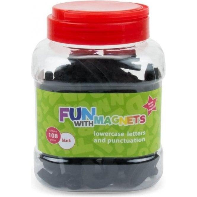 108 Lowercase Magnetic Foam Letters + Punctuation (Black)