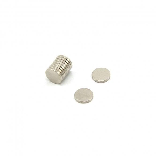 10mm dia x 1.5mm thick N42 Neodymium Magnet - 1kg Pull