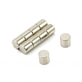 10mm dia x 10mm thick N42 Neodymium Magnet - 3.9kg Pull (Pack of 4)