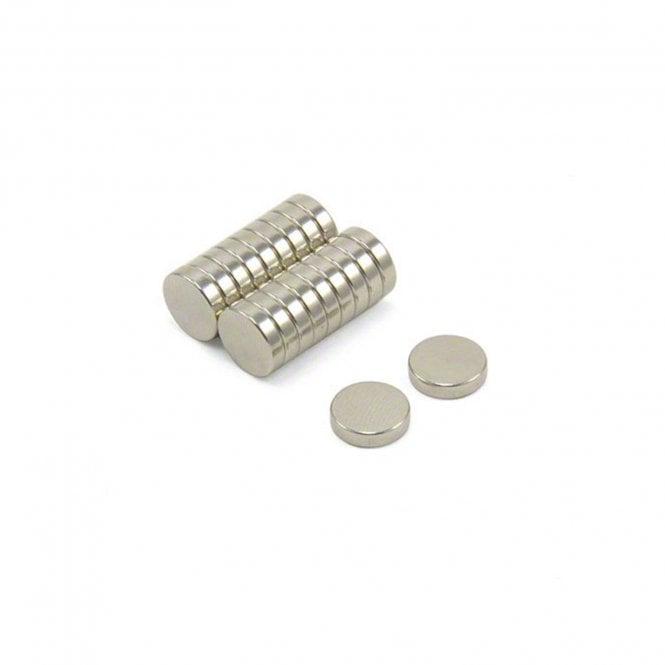 10mm dia x 2.5mm thick N42 Neodymium Magnets - 1.4kg Pull