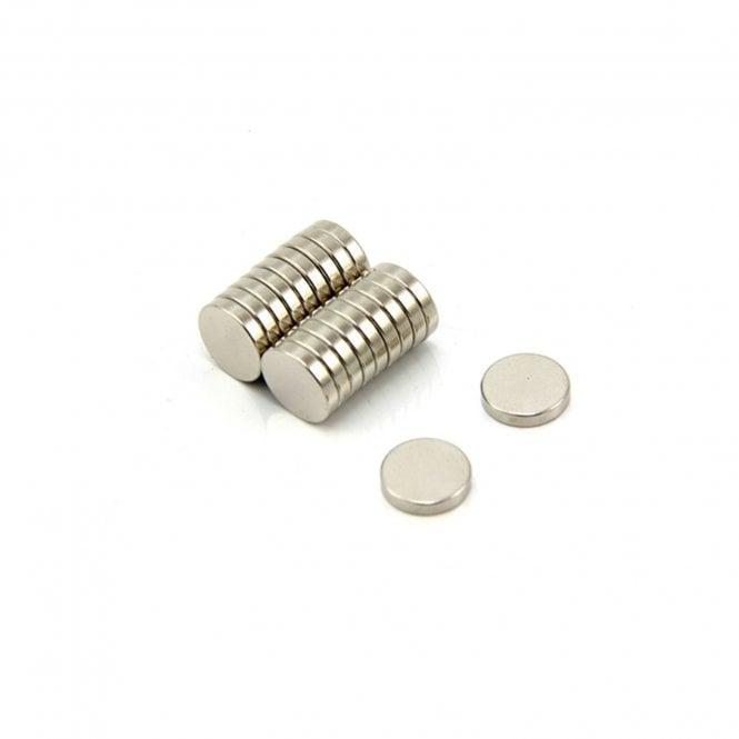10mm dia x 2mm thick N35 Neodymium Magnet - 1kg Pull