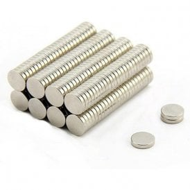 10mm dia x 2mm thick N42 Neodymium Magnet - 1.44kg Pull (Pack of 200)