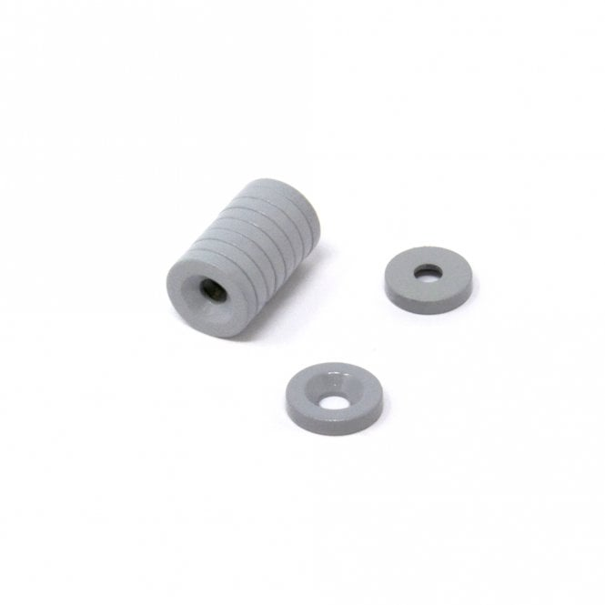 10mm dia x 2mm thick x 3.2mm c/sink PTFE Coated N42 Neodymium Magnet (North/South)