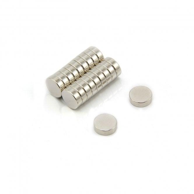 10mm dia x 3mm thick N42 Neodymium Magnet - 1.8kg Pull