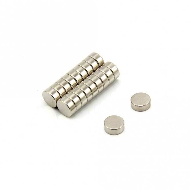 10mm dia x 4mm thick N42 Neodymium Magnet - 2.3kg Pull