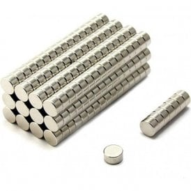 10mm dia x 5mm thick N35 Neodymium Magnet - 2.5kg Pull ( Pack of 200 )
