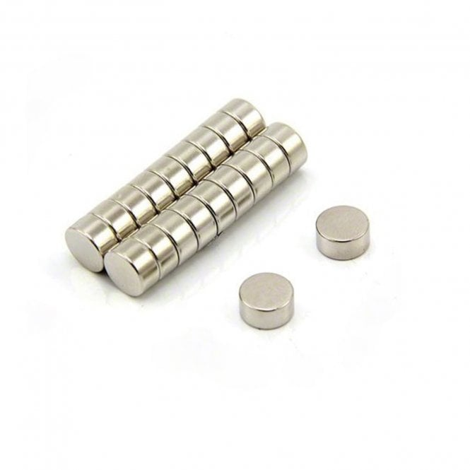 10mm dia x 5mm thick N35H Neodymium  Magnet - 2.5kg Pull