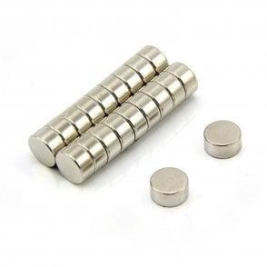 10mm dia x 5mm thick N42 Neodymium Magnet - 2.9kg Pull