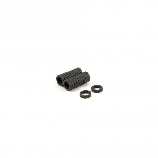 11.7mm O.D. x 7.9mm I.D. x 3mm thick Y10 Ferrite Magnets - 0.076kg Pull