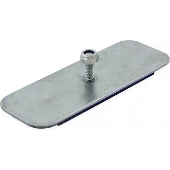 110 x 40 x 6mm thick Neodymium Magnetic Pad with M6 Threaded Stud - 31kg Pull