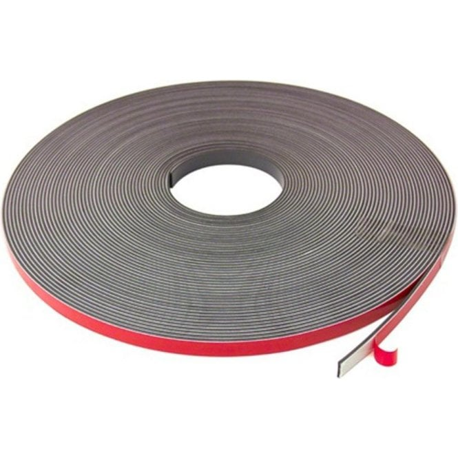 12.5mm x 2.5mm thick Magnetic Tape with Premium Foam Adhesive
