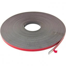 12.7mm wide x 2.5mm thick Foam Adhesive Magnetic Tape - Polarity A (30m length)