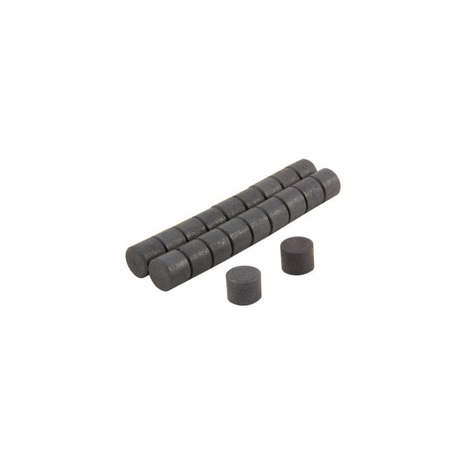 12mm dia x 10mm thick Y10 Ferrite Magnets - 0.2kg Pull