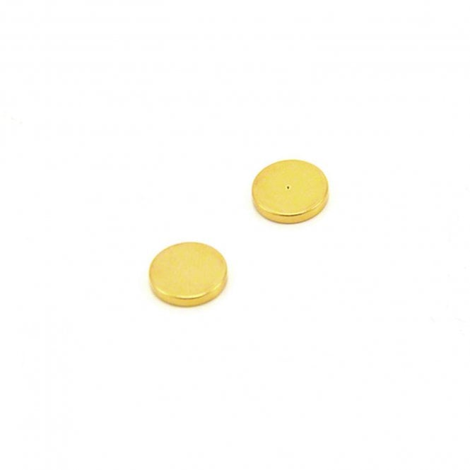 12mm dia x 2mm thick Gold Plated Polarity Magnets - Dimple On North Face - 1.2kg Pull