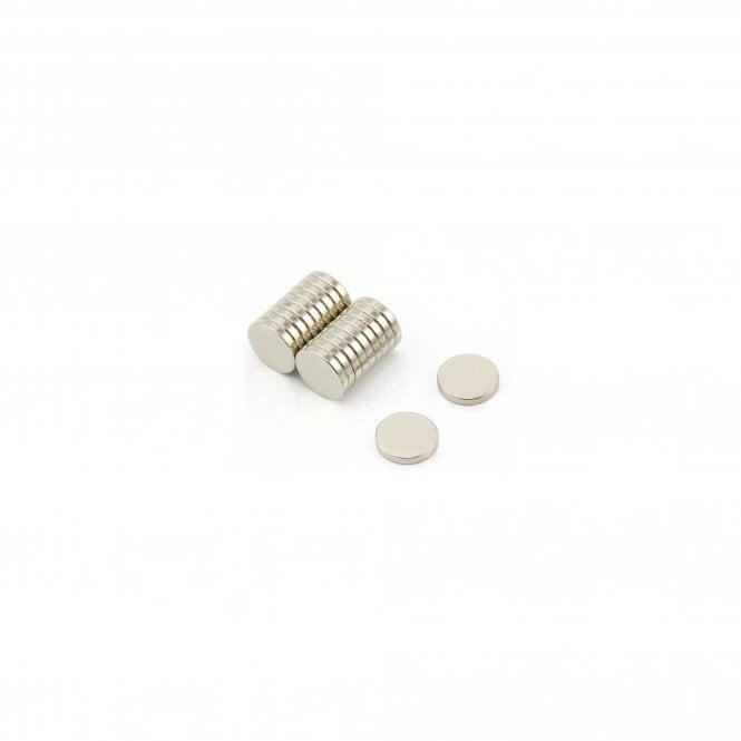 12mm dia x 2mm thick N42 Neodymium Magnet - 1.6kg Pull