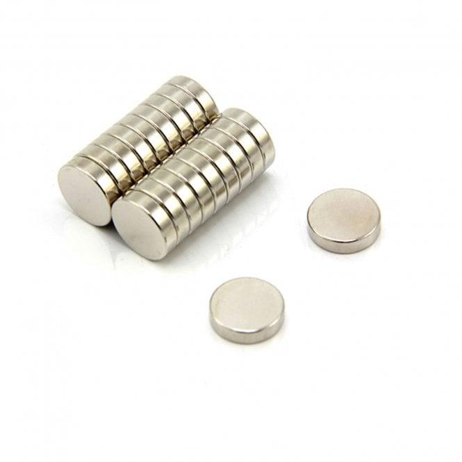 12mm dia x 3mm thick N42 Neodymium Magnet - 2.5kg Pull