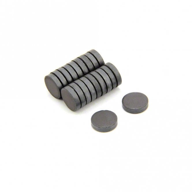 12mm dia x 3mm thick Y30 Ferrite Magnet - 0.05kg Pull