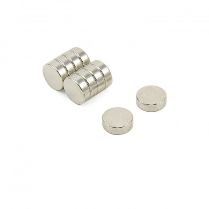 12mm dia x 4mm thick N42 Neodymium Magnet - 3kg Pull