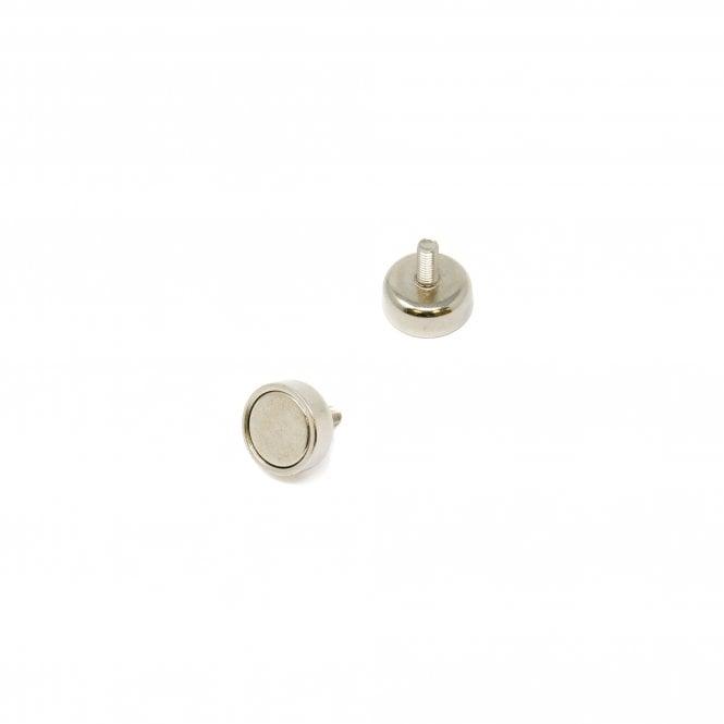 12mm dia x 5mm thick x M3 stud N42 Neodymium Pot Magnet - 4kg Pull