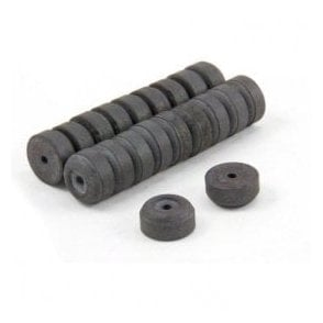 12mm O.D. x 2mm I.D. x 6mm thick Y10 Ferrite Magnets - 0.137kg Pull