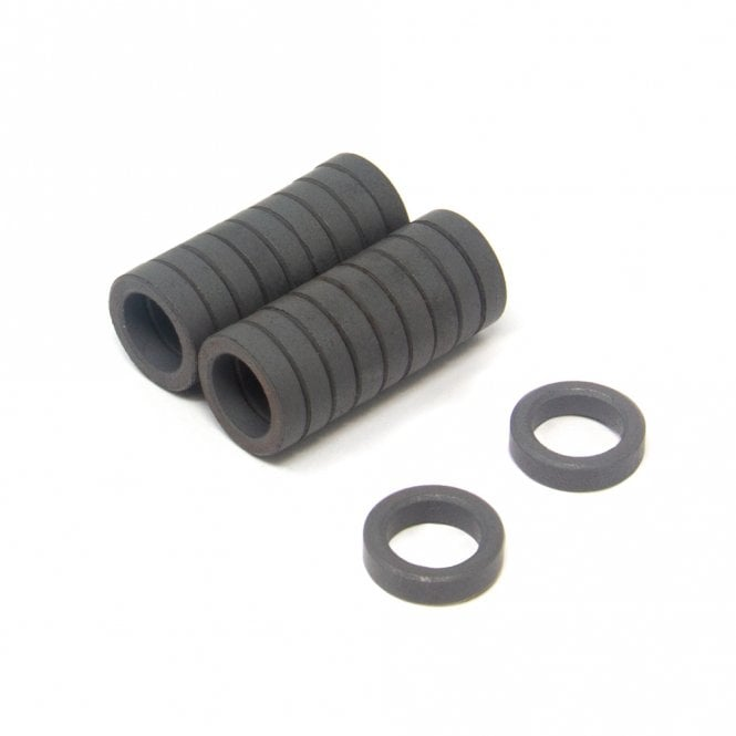 12mm O.D. x 3mm I.D. x 7mm thick Y10 Ferrite Magnets