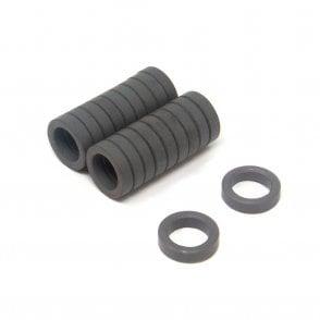 12mm O.D. x 7mm I.D. x 3mm thick Y10 Ferrite Magnets