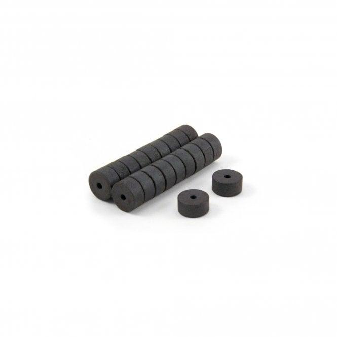 14mm O.D. x 3mm I.D. x 7mm thick Y10 Ferrite Magnets - 0.183kg Pull