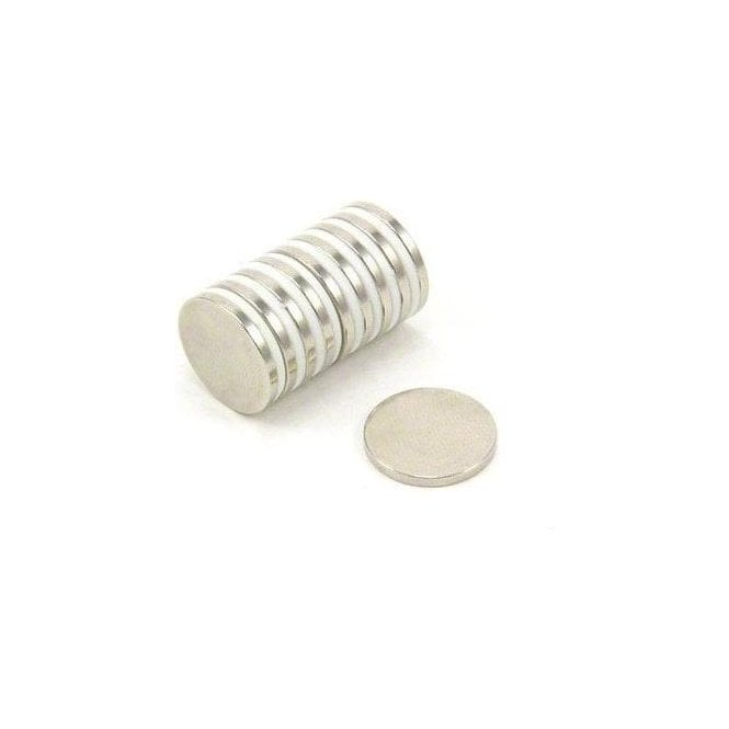 15mm dia x 1.5mm thick N35H Neodymium Magnets - 1.4kg Pull
