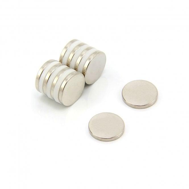 15mm dia x 2mm thick N42 Neodymium Magnet - 2.2kg Pull