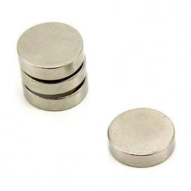 15mm dia x 4mm thick N35 Neodymium Magnet - 2.8kg Pull (Pack of 4)