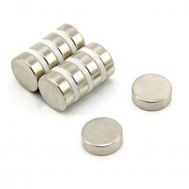 15mm dia x 5mm thick Ultra High Performance N52 Neodymium Magnet - 6kg Pull (Pack of 4)