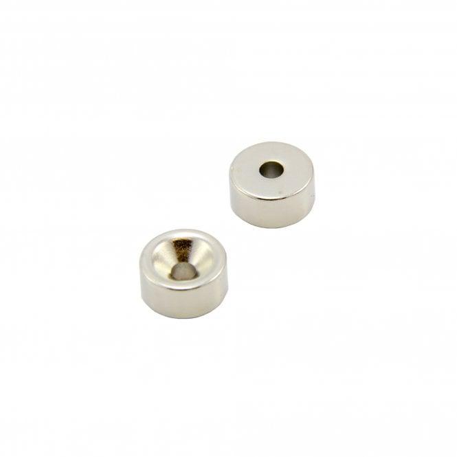 15mm dia x 7.5mm thick x 4.2mm c/sink Neodymium Magnet - 5.7kg Pull