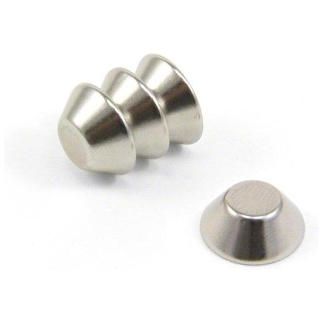 15mm O.D. x 8mm I.D. x 6mm thick N42 Neodymium Cone Magnet - 3.2kg Pull