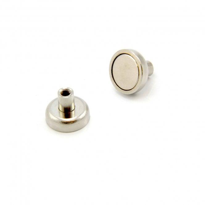 16mm dia x 13mm tall x M4 thread N42 Neodymium Pot Magnet - 9.7kg Pull