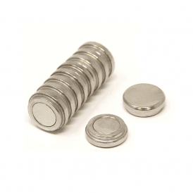 16mm dia x 5mm thick N35 Neodymium Top Hat Pot Magnet - 2.4kg Pull (1 Pack of 10)
