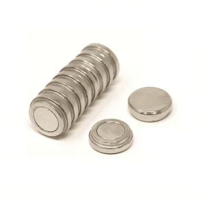 16mm dia x 5mm thick N35 Neodymium Top Hat Pot Magnet - 2.4kg Pull