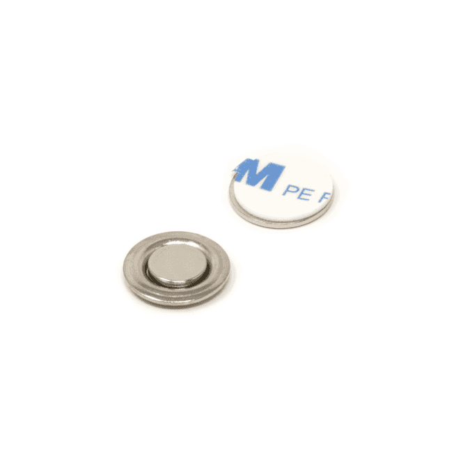17mm dia Name Badge Magnet with Adhesive Back