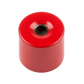 17mm dia x 16mm thick Alnico Deep Pot Magnet c/w M6 threaded hole - 2.5kg Pull (Pack of 4)