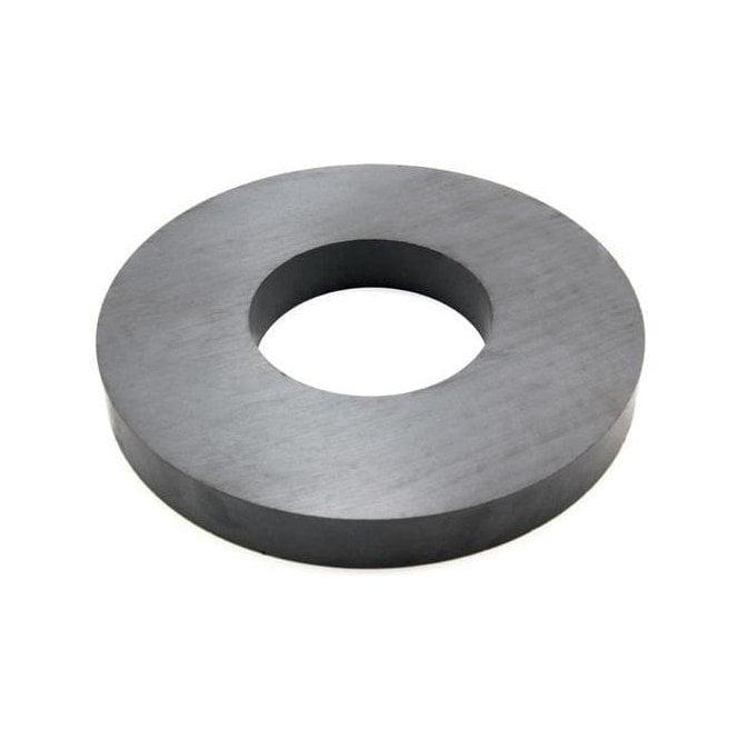 190mm O.D x 85mm I.D x 23mm thick Y30BH Ferrite Ring Magnet 16kg Pull