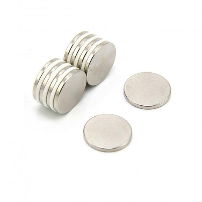 19mm dia x 2mm thick N42 Neodymium Magnet - 2.3kg Pull