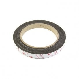 19mm wide x 0.85mm thick Flexible Neodymium Magnetic Tape with 3M Self Adhesive (6 x 5m lengths)